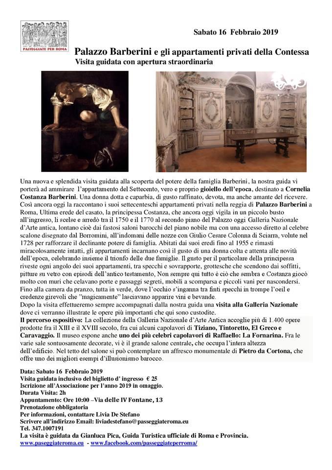 Palazzo Barberini e gli Appartamenti Privati della Principessa Cornelia